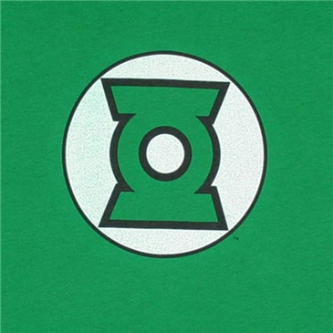 GREEN LANTERN Logo DC Comics Green Juniors Graphic Tee Shirt