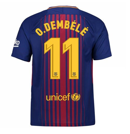 2017-2018 Barcelona Home Shirt (O Dembele 11) - Kids