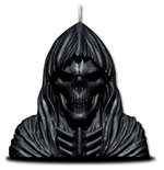 Wax Reaper With Skull - Scented Candle with Metal Sculpture