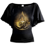 Origins Logo - Assassins Creed Boat Neck Bat Sleeve