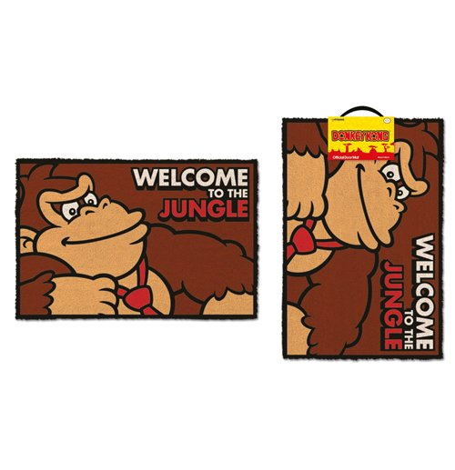 buy official donkey kong doormat welcome to the jungle 40 x 60 cm. Black Bedroom Furniture Sets. Home Design Ideas