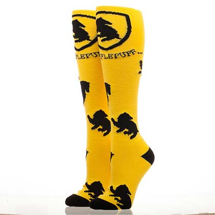 HARRY POTTER Hufflepuff Yellow Knee High Socks