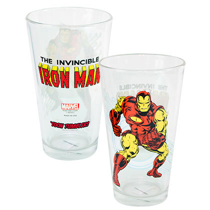 IRON MAN Toon Pint Glass