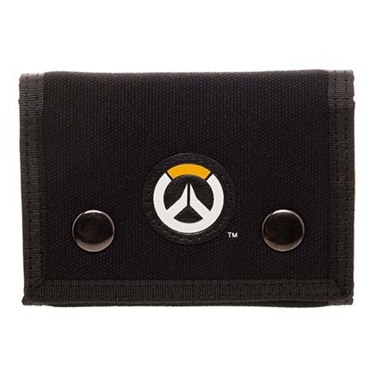 OVERWATCH Black Trifold Wallet
