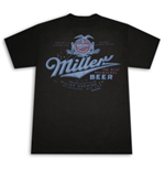 MILLER Beer Vintage Post Prohibition Retro Men's Black T-Shirt