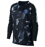 2017-2018 PSG Nike LS Pre-Match Training Shirt (Black) - Kids