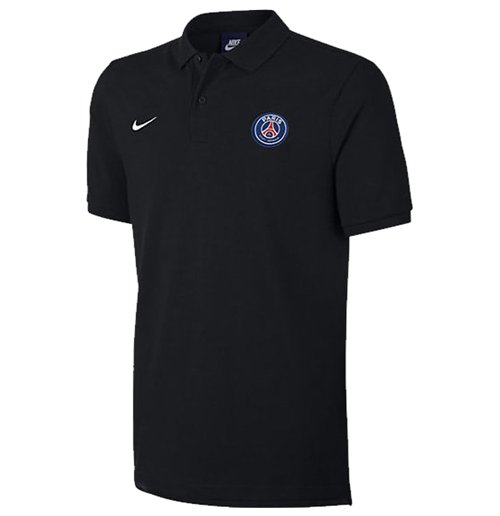 buy official 2017 2018 psg nike core polo shirt black. Black Bedroom Furniture Sets. Home Design Ideas