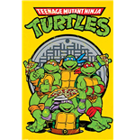 Ninja Turtles Poster - Retro -61X91,5 Cm