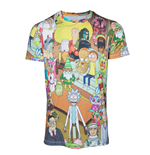 Rick & Morty - Printed Allover Mens T-shirt