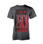 Justice League T-Shirt Striped Characters