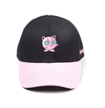 POKEMON Jigglypuff Curved Bill Baseball Cap, Black/Pink