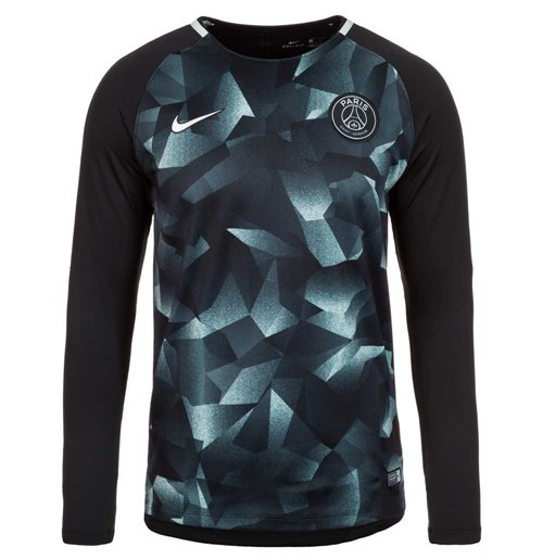 brand new 63098 0cda5 2017-2018 PSG Nike LS Pre-Match Training Shirt (Black)