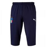 2018-2019 Italy Puma Three Quarter Length Training Pants (Peacot)