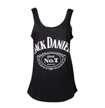 Jack Daniels - Ladies black tanktop Lower Back