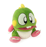 BUBBLE BOBBLE Bubble Dragon Bub Plush Toy with Sound Effects, 22cm Tall, Green