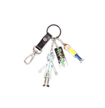 Rick & Morty - Characters And Logo Metal Keychain