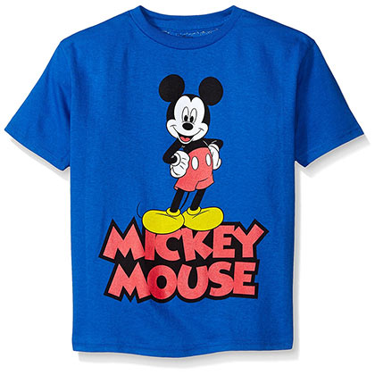Mickey Mouse Blue Classic Boys Youth Tshirt