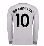 2017-2018 Man United Home Long Sleeve Third Shirt (Ibrahimovic 10) - Kids