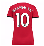 2017-2018 Man United Home Womens Home Shirt (Ibrahimovic 10)