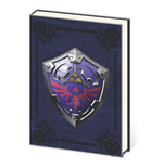 Legend of Zelda Metal Embellished Premium Journal A5 Metal Shield