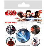 Star Wars Episode VIII Pin Badges 5-Pack Characters