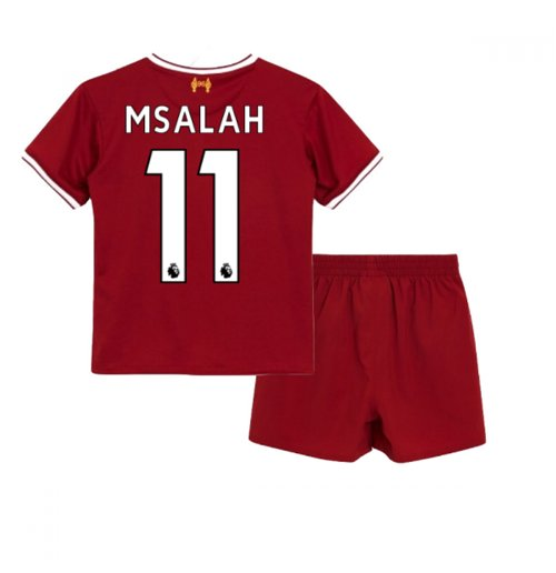best website 38643 1e402 2017-18 Liverpool Home Baby Kit (M Salah 11)