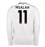2017-18 Liverpool Away Long Sleeve Shirt (M Salah 11)