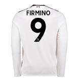2017-18 Liverpool Away Long Sleeve Shirt (Firmino 9)