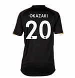 2017-18 Leicester City Away Shirt (Okazaki 20) - Kids