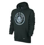 2017-2018 Man City Nike Core Hooded Top (Outdoor Green)
