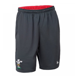 2018-2019 Wales Rugby WRU Training Shorts (Anthracite)