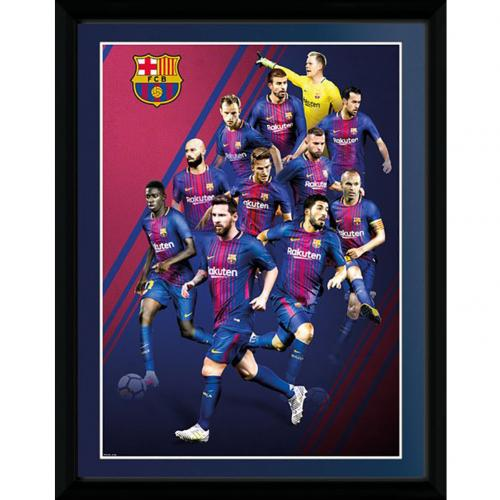 F.C. Barcelona Picture Players 16 x 12