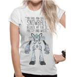 Rick And Morty - Snowball - Women Fitted T-shirt White