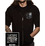 Justice League Movie - Logo - Unisex Zipped Hooded Sweatshirt Black