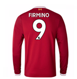 2017-18 Liverpool Home Long Sleeve Shirt (Firmino 9)