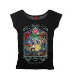 Beauty and the Beast Ladies T-Shirt Window Girl