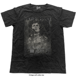 David Bowie Men's Fashion Tee: Live (Vintage Finish)