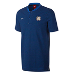 2017-2018 Inter Milan Nike Authentic League Polo Shirt (Royal Blue)