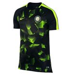 2017-2018 Inter Milan Nike Pre-Match Training Shirt (Black)