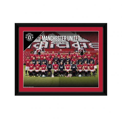 Manchester United F.C. Picture Squad 8 x 6 17/18
