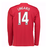 2016-17 Man United Home Long Sleeve Shirt (Lingard 14) - Kids