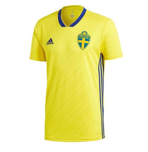 2018-2019 Sweden Home Adidas Football Shirt (Kids)