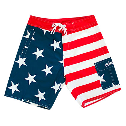 Men's American Flag PATRIOTIC Board Shorts