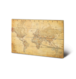 World map Print on wood 283447