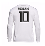 2018-19 Germany Home Long Sleeve Shirt (Podolski 10)