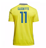2018-19 Sweden Home Shirt (Guidetti 11)