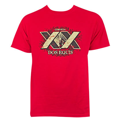 Dos equis red xx logo tee shirt for only c at for Dos equis t shirt urban outfitters