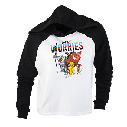 LION KING Women's No Worries Crop Top Hoodie