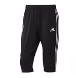 2018-2019 Germany Adidas 3/4 Length Training Pants (Black)