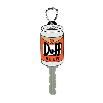 The Simpsons DUFF Beer Key Cover